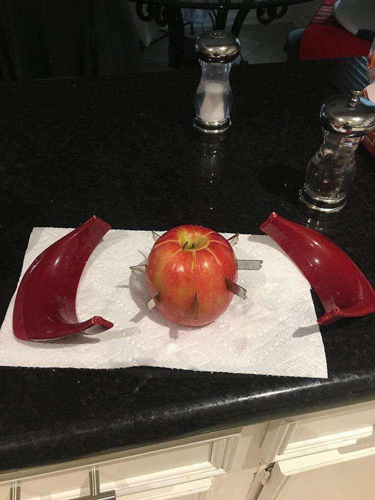My Apple Broke The Apple Cutter And Now I Have A Weapon